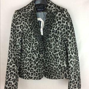 Jones New York Leopard Print Blazer Size 6 NWT